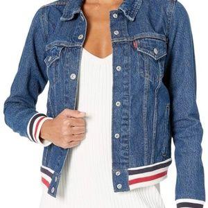 NWT Levi's Rib Trim Trucker Jean Jacket Size S